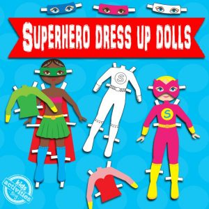 Female Super Hero Paper Dolls