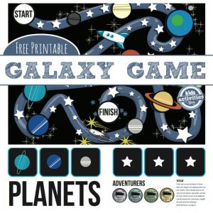 Stars and Planets Space Printable Game for Kids
