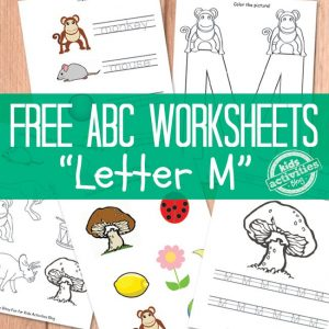 Preschool Letter M Worksheets