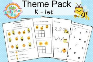 Sweet Bees Kindergarten Printables Packet for Kids from The Printables Library at Kids Activities Blog