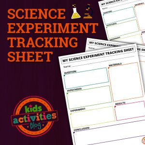 Science Experiment Record Sheet