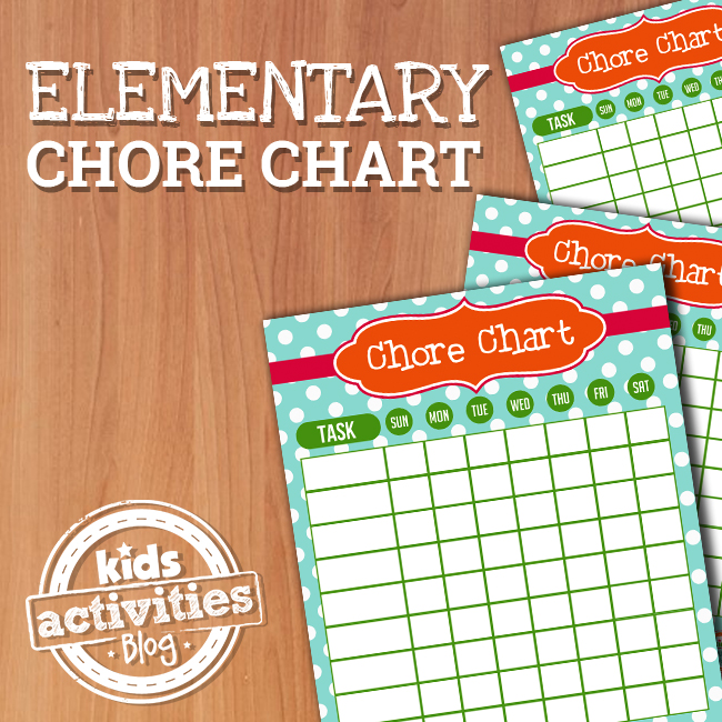Chore Charts for Elementary Kids