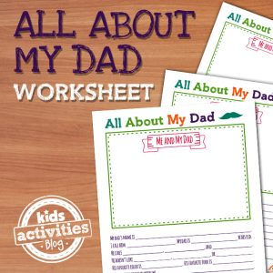 All About My Dad Father's Day Printable