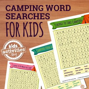 Camping Word Search Puzzles for Kids