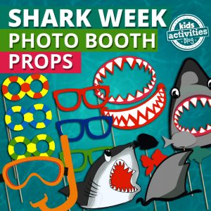 Shark Party Photo Booth Props