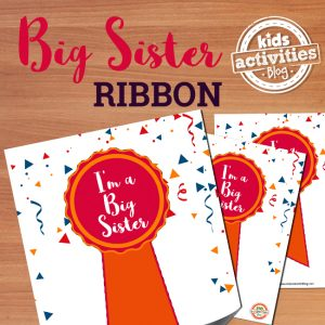 I'm a Big Sister Ribbon