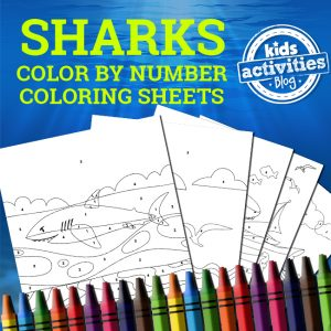 Shark Color By Number Coloring Pages