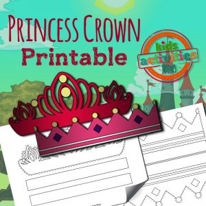 Printable Princess Crown Craft Activity