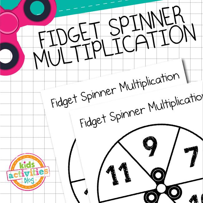 Printable Fidget Spinner Multiplication 7-12 Game for Kids
