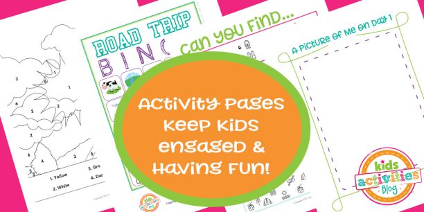 Activity Pages for the Travel Journal for Kids