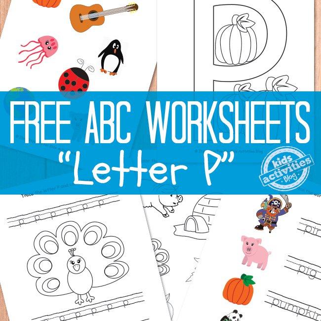 Free Letter P Worksheets