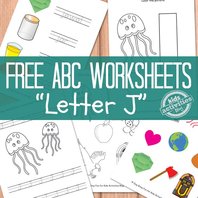 Free Letter J Worksheets for Preschool   The Printables Library