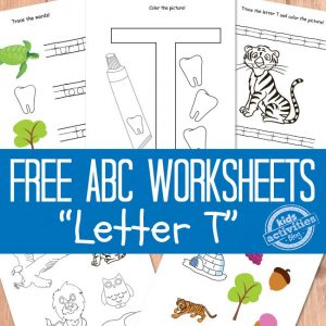 Letter T Worksheets
