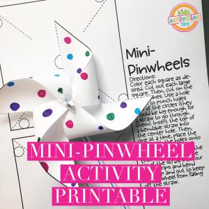 Mini-Pinwheel Activity Printable