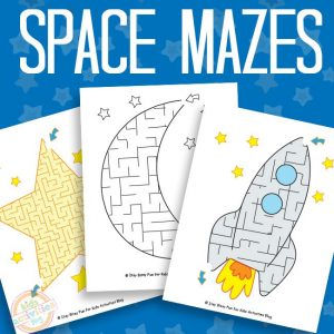 Space Mazes for Kids
