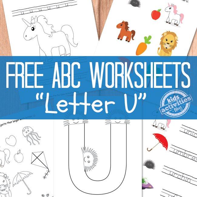 Free Printable Letter U Worksheets