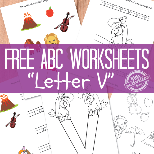 Free Printable Letter V Worksheets