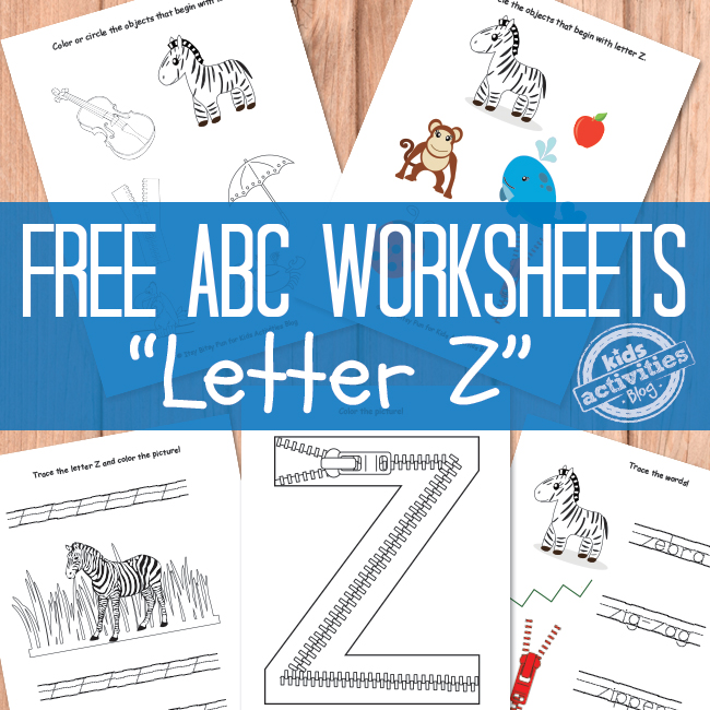 Printable Letter Z Worksheets | The Printables Library