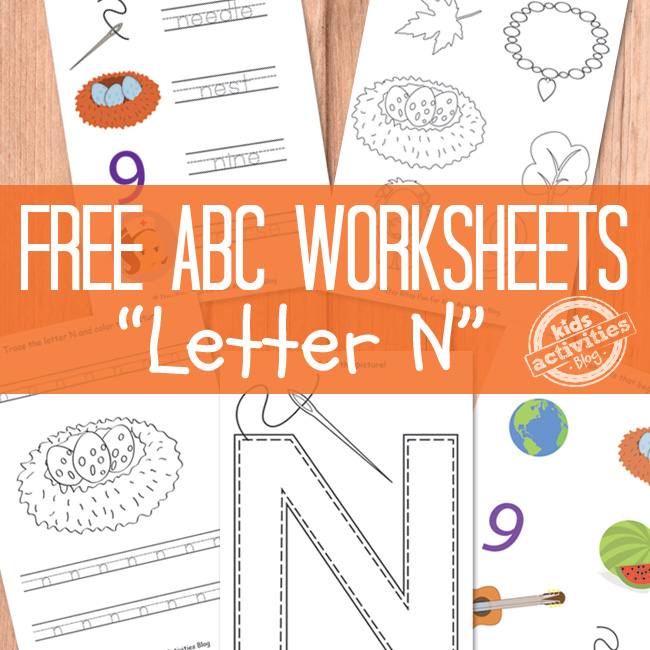 Printable Letter N Worksheets The Printables Library