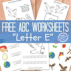 Preschool Letter E Worksheets