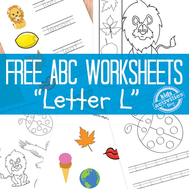 Printable Letter L Worksheets for Preschool | The Printables Library