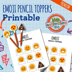 Emoji Pencil Toppers - A Premium Printable at the Kids Activities Blog Printables Library
