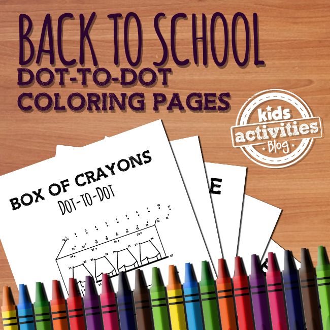 Back to School Dot to Dot Coloring Pages