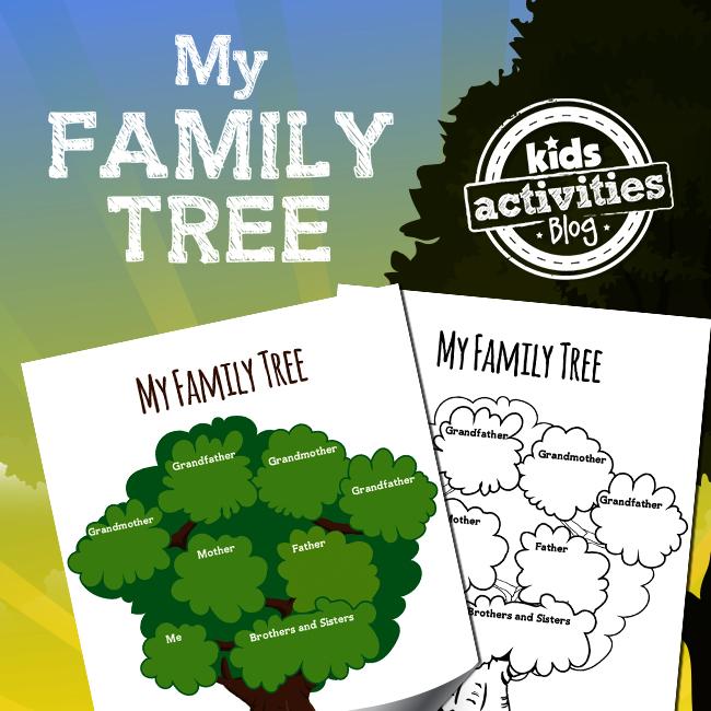 My Family Tree Printable Activity