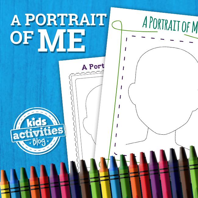 Portrait of Me Printable Activity