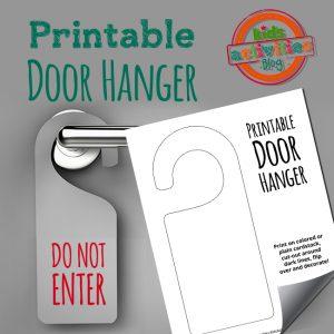 Printable Door Hanger Craft Template