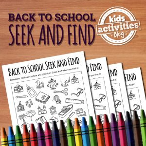 Back to School Seek and Find Printable
