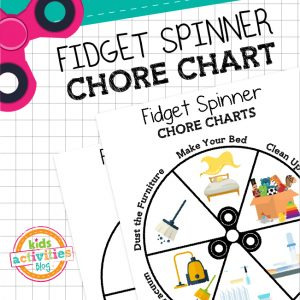 Fidget Spinner Chore Chart for Kids