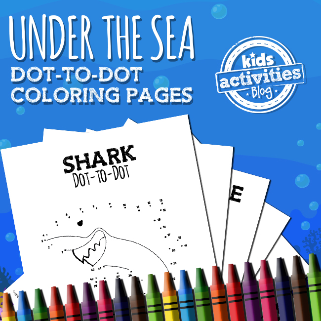 Under the Sea Dot to Dot Coloring Pages