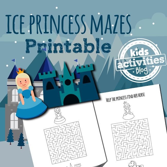 Printable Ice Princess Mazes