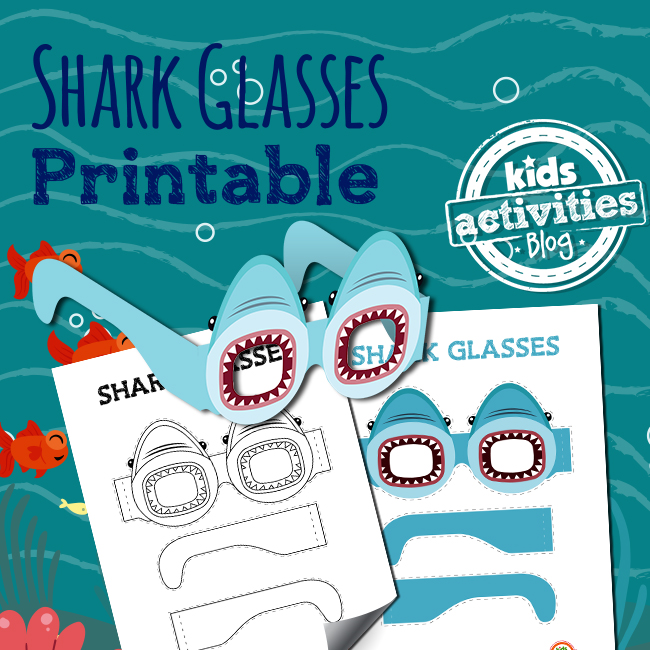 Shark Glasses Craft for Kids for Shark Week