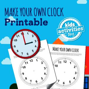 Printable Clock – Make Your Own Clock Activity