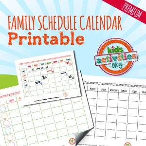 Family Schedule Calendar