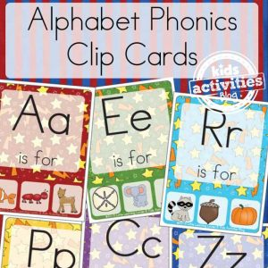 Alphabet Phonics Clip Cards Game