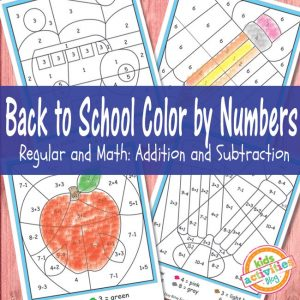 Back to School Color By Numbers