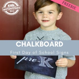 Printable Chalkboard First Day of School Signs