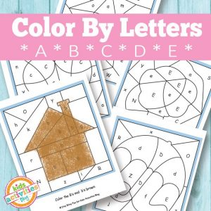 Color by Letter Coloring Pages: A, B, C, D, E