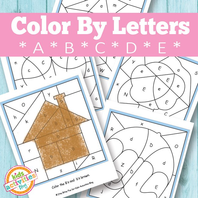 Color By Letter Printable Coloring Pages For Kids
