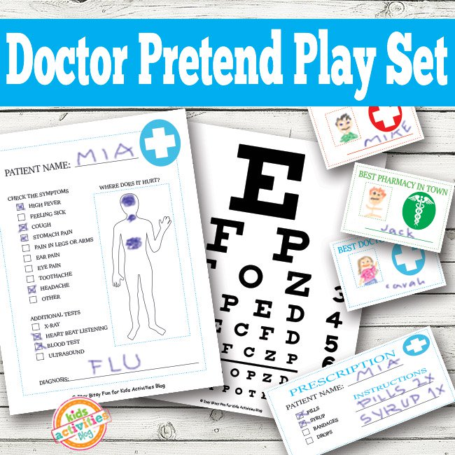 Doctor Pretend Play Printable Activities for Kids