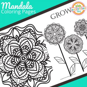Mandala Coloring Pages Freebie