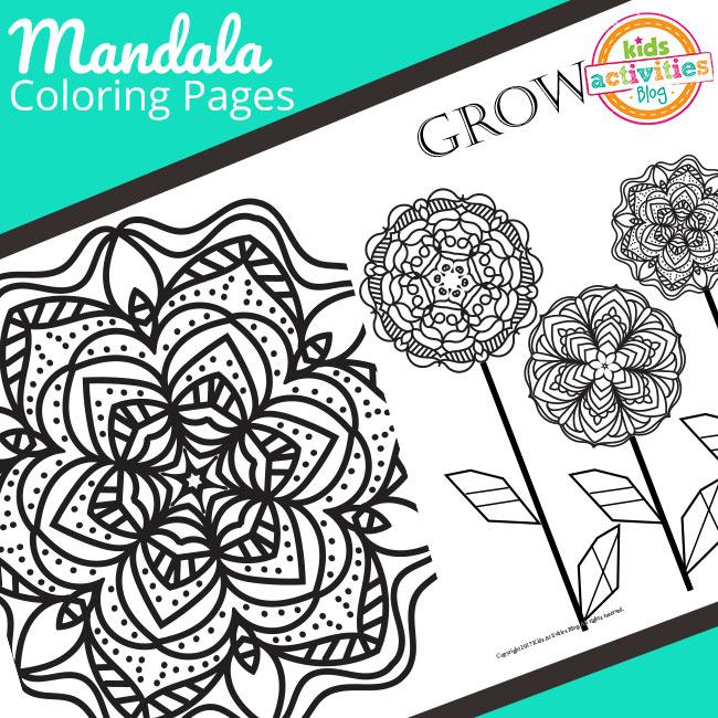 Mandala Coloring Pages Freebie