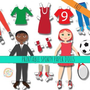 Sporty Printable Paper Dolls