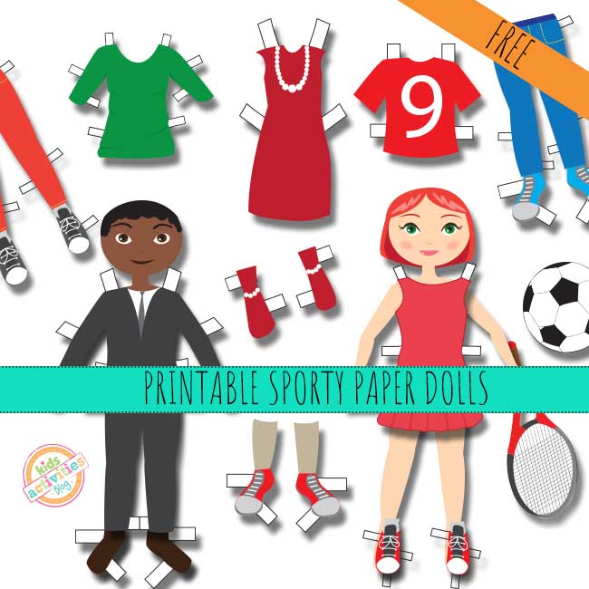 PRINTABLE SPORTY PAPER DOLL PRINTABLES