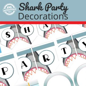Printable Shark Party Decorations