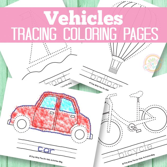Vehicle Tracing Coloring Page