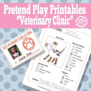 Vet Pretend Play Activity Printables